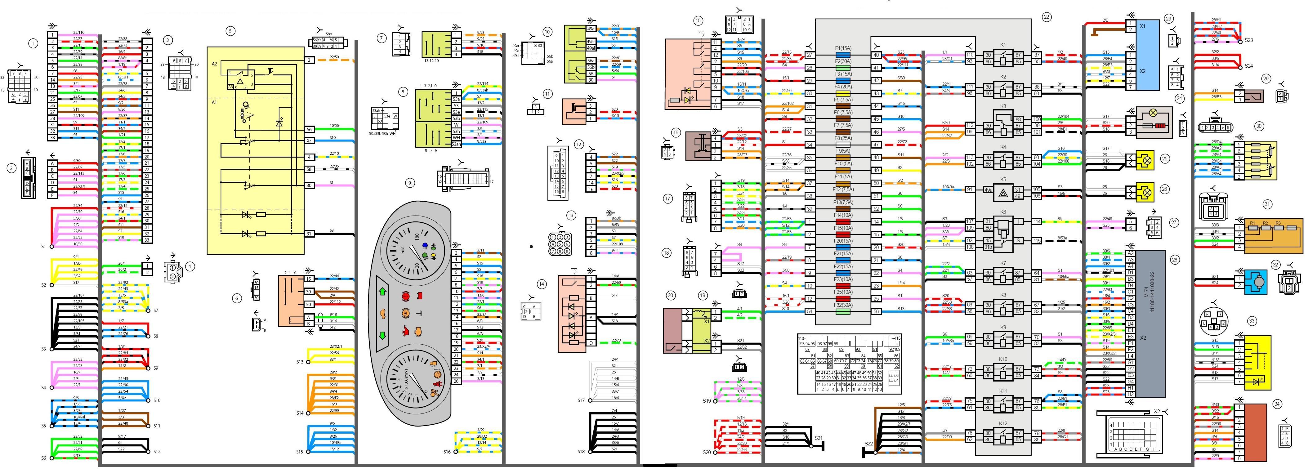 Электросхема лада гранта норма с описанием элементов.